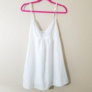 Oscar de la Renta pink label white nightie XL